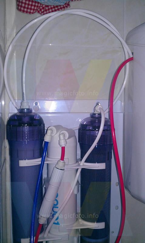 Recupero acqua da impianto di filtraggio a osmosi inversa - Impianto acqua casa ...